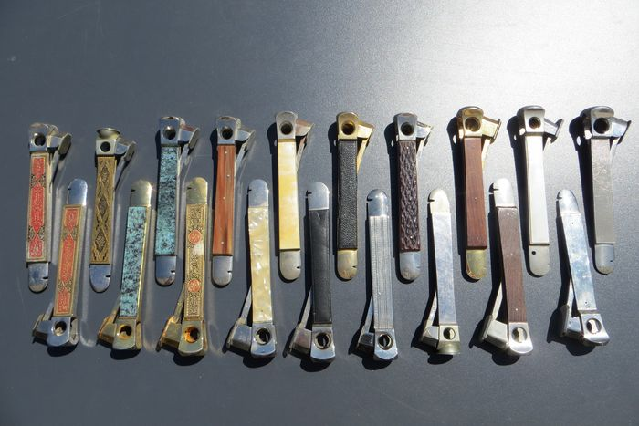 Donatus, Pfeilring, C S, Maussner, Herder en andere - Cigar cutter - Collection of 19