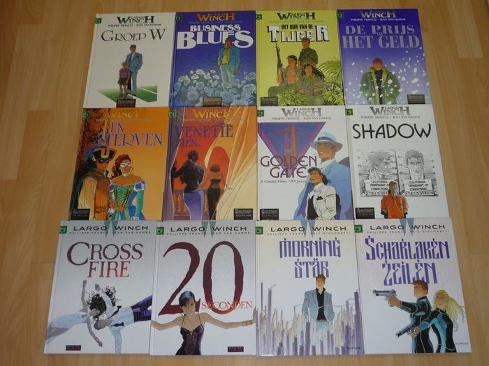 Largo Winch 2, 4, 8 t/m 13, 19 t/m 22 - 12 Albums - Hardcover - First edition - (1998/2019)
