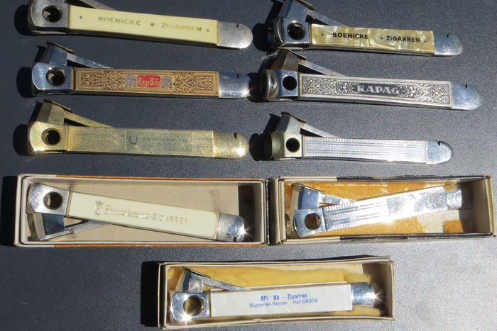 Pfeilring, Bonsmann, C S - Advertising cigarette cutters - Collection of 9