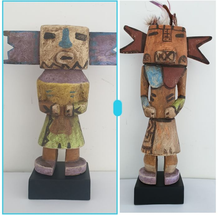 Doll (2) - Wood - Kachina - in Hopi style