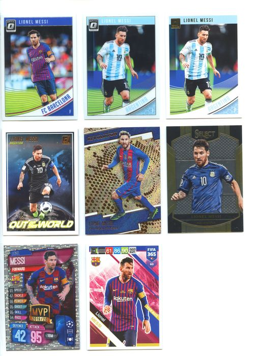 Football - Lionel Messi - 12 different Leo Messi sports cards