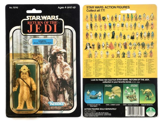 "Star Wars - Return of the Jedi - Kenner - 1983 - 3 3/4"" vintage Action figure Logray"