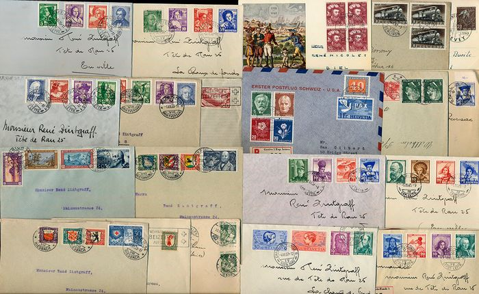 "Svizzera 1913/1949 - Lot with 20 documents with ""Pro Juventute"" frankings"