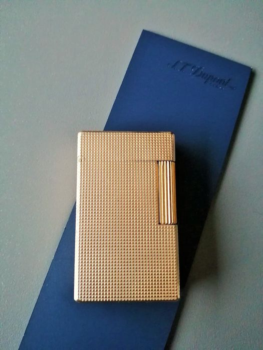 S.T. Dupont - Lighter - gold plated line 1 BRG works of 1