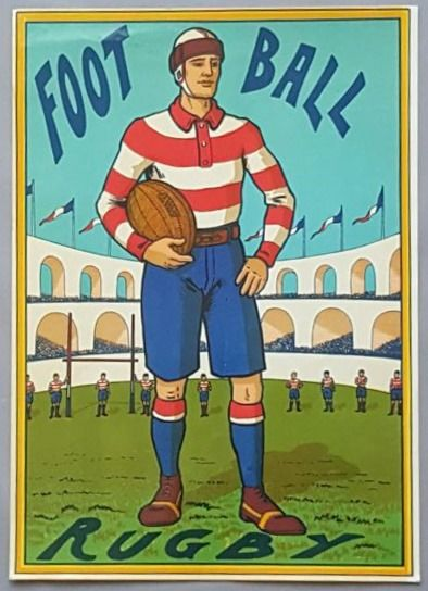 Sport - Affiche ancienne FOOTBALL-RUGBY - 1910