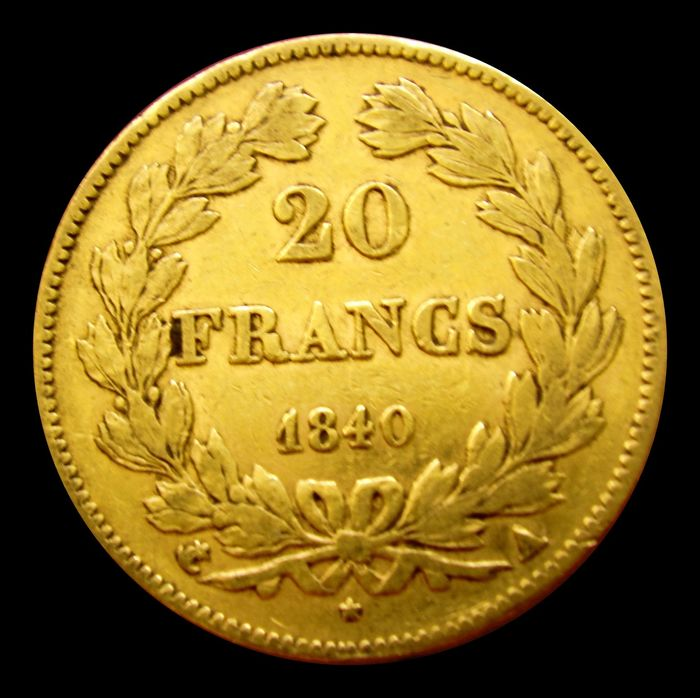 France - Louis Philippe I - 20 Francs 1840-A (Paris) - Gold