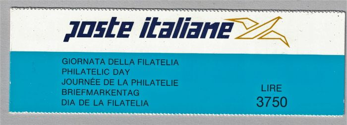 "Italy 1992/1992 - Booklet ""Giornata della filatelia"" 1992, perforated 14 - Sassone L 15I"
