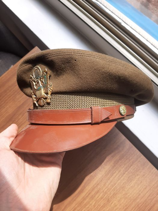 United States of America - Unique US Army WW2 Officers Crusher Visor Cap - Infantry - Airborne