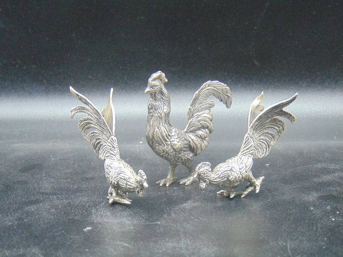 Silver miniature (3) - .900 silver - Italy - Early 20th century