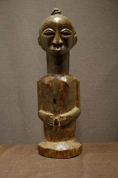"Figure - Wood - ""kakudji""- Provenance Patric Claes - Luba-Kusu - Congo DRC"