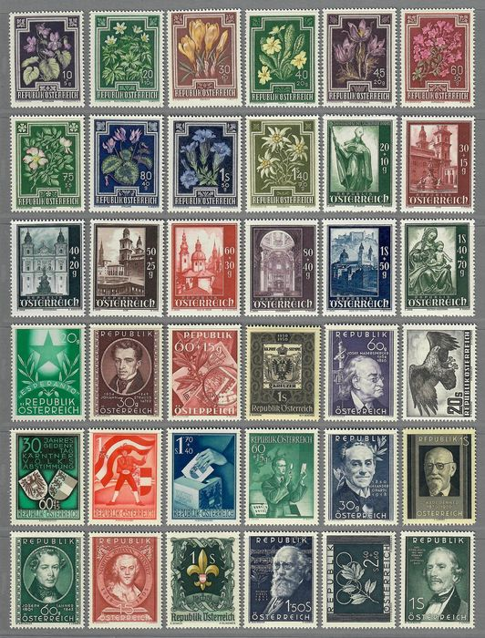 Austria 1948/1962 - Large lot of commemorative stamps