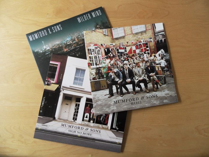 Three great albums from Mumford & Sons - LP's - 2009/2015