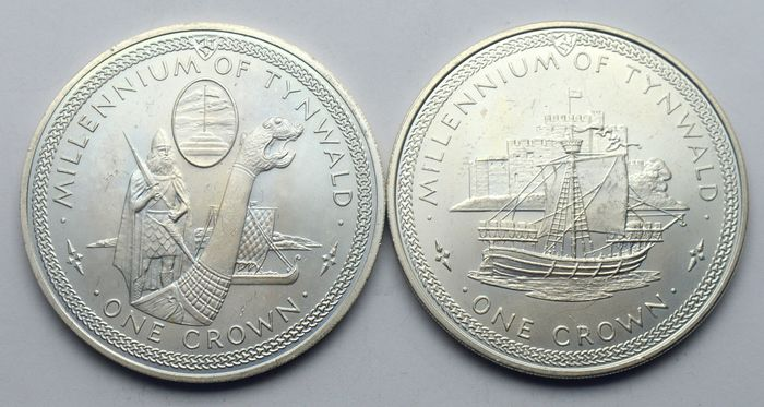 Man (Isle of Man) - One Crown 1979 Millennium of Tynwald - Silver