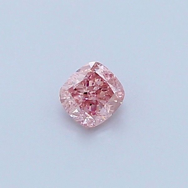 1 pcs Diamant - 0.16 ct - Coussin - fancy intens pink - I2