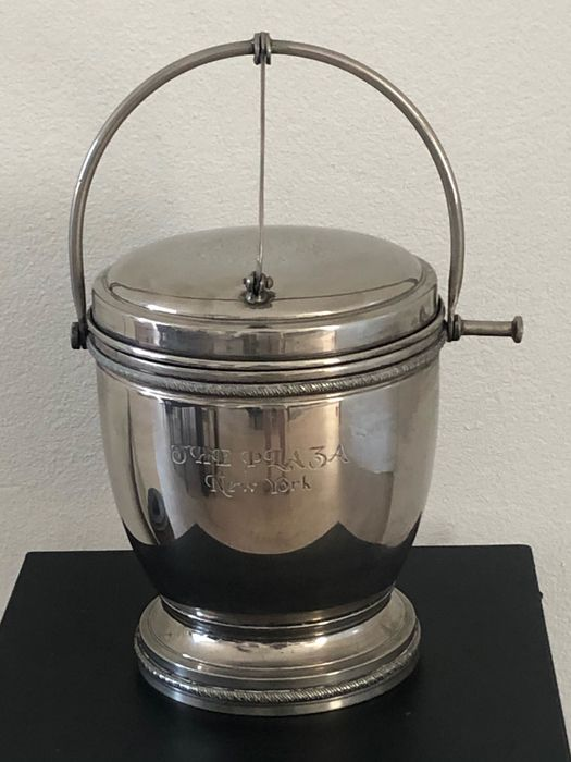 Silver plated wine cooler / ice bucket from The Plaza Hotel in New York