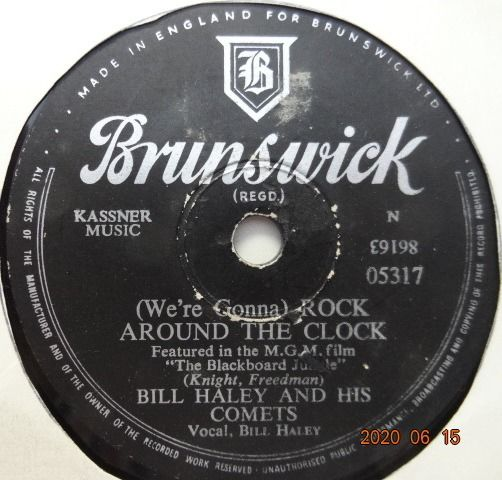 Bill Haley, Johnny Ray, The Platters, Teresa Brewer, Platters, Pat Boone, Patti Page, Four Knights - 20x 78RPM-Records with Rock & Roll and Popmusic from the 1950's. - 78 rpm - Records shellac