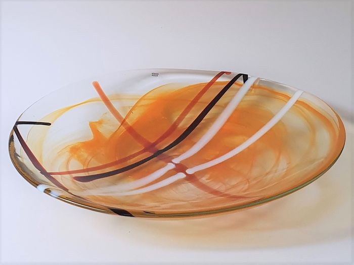 "Anna Ehrner - Kosta Boda - Large orange bowl ""Contrast"" - Rare color - 2761 grams"
