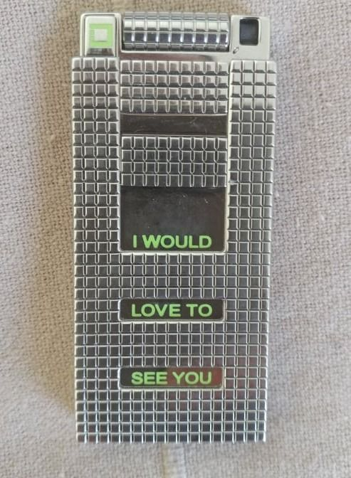 S.T. Dupont - Pocket lighter - S.T.DUPONT LINE D - LOVE TO SEE YOU AGAIN