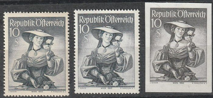 Austria 1948/1952 - The complete National Costumes set from Austria from 1948 to 1953 including 923 y and 923 U. ANK Nr. 887 bis 923 mit y und 923 U