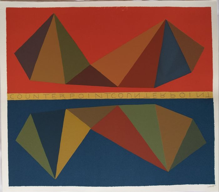 Sol Lewitt (1928-2007) - Two Asymmetrical Pyramids and Their Mirror Images (Counterpoint)