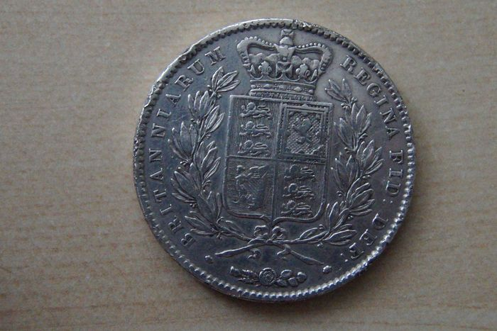 Great Britain - Crown 1845 - Silver