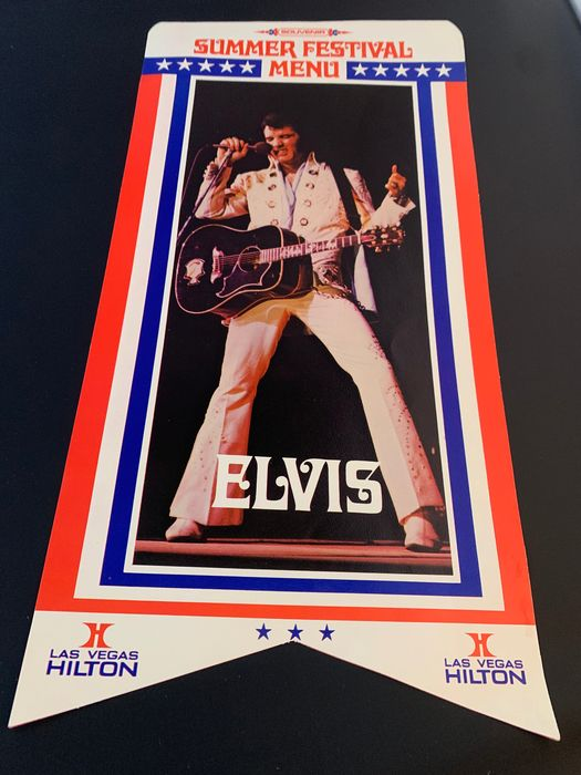 Elvis Presley - Original Elvis Presley Summer Festival Menu '72 - Collector's item - Official merchandise memorabilia item - 1972/1972