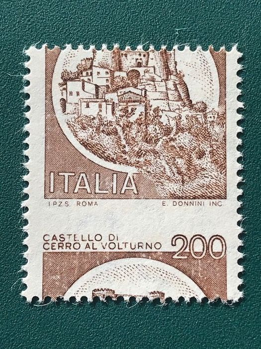 Italien 1980 - Castello Bruno - approved - Bolaffi 1621B