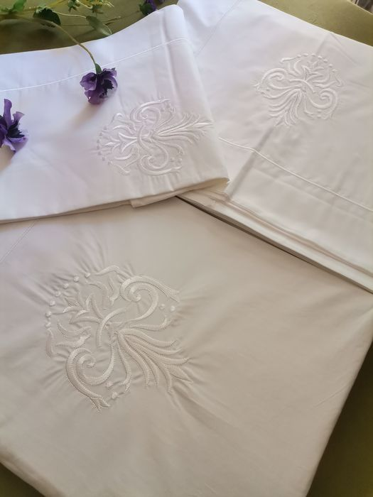 sheet set with two pillowcases 240 x 300 cm - Cotton - Late 20th century