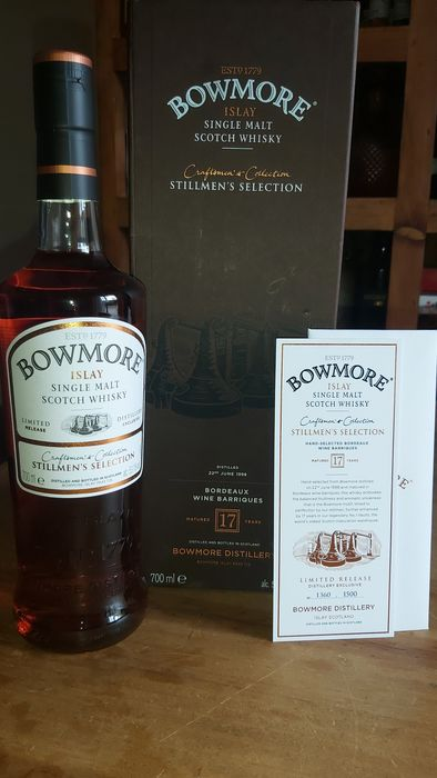 Bowmore 1998 17 years old Wine barriques  - Original bottling - 700 毫升