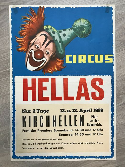 Diversen - Circus Hein, Circus Hellas - 2 posters - Années 1960