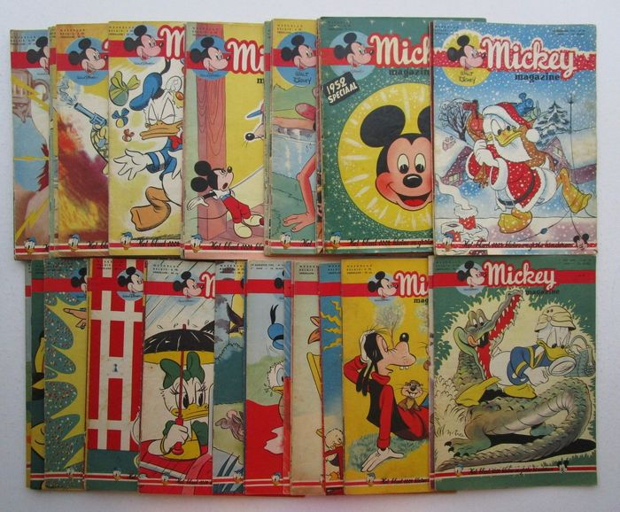 Mickey Magazine  - 22 december 1951 t/m 26 december 1952 - nummer 63  t/m 116 - Softcover - Eerste druk - (1951/1952)