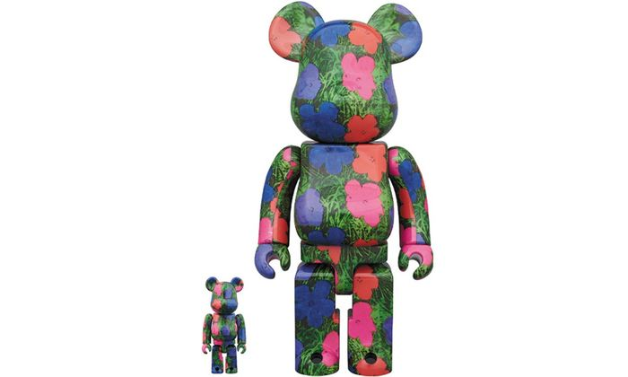 Andy Warhol (after) - Bearbrick Flowers 2 400% & 100% Articulated  figure