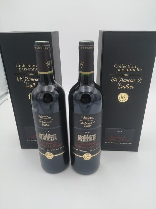 2014  Cuvée Privee du Chateau Cadet Bon - Collection personnelle Mr Francois-L Vuitton  - Saint-Emilion Grand Cru - 2 Flessen (0.75 liter)