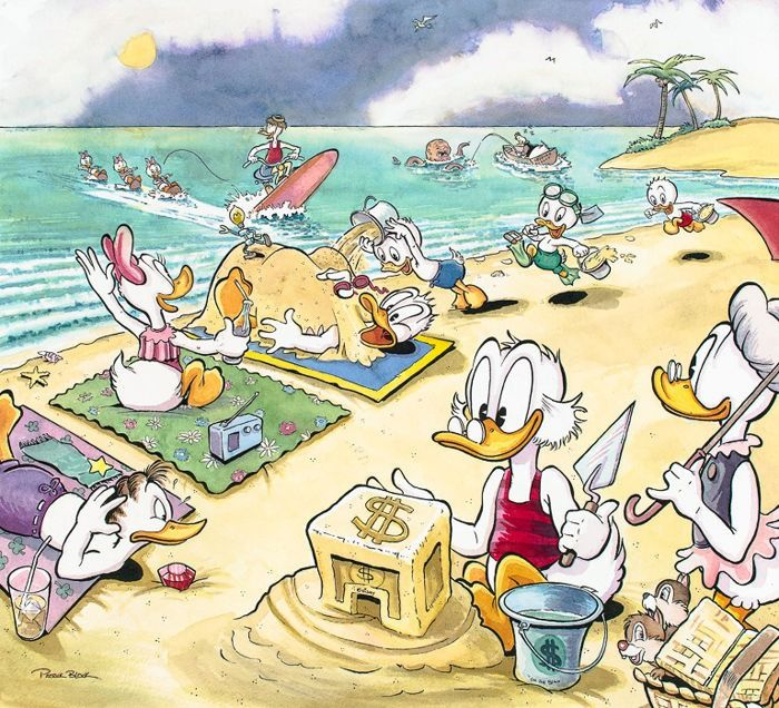 Limited edition, hand-signed and numbered lithograph by Patrick Block - On the Beach - First edition - (2012)