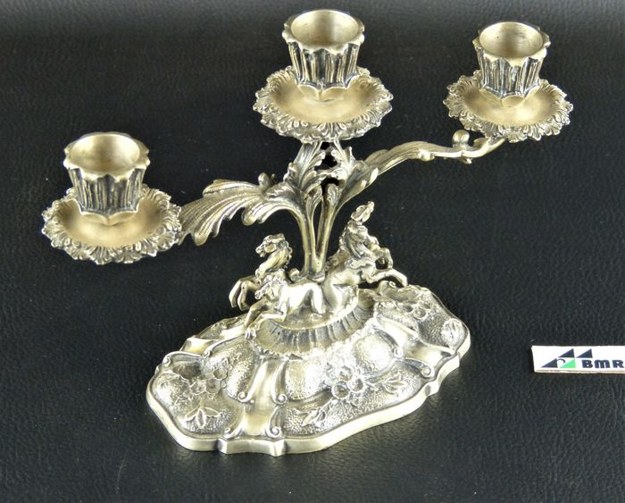 Candlestick - .800 silver - Cesa - Italy - Mid 20th century