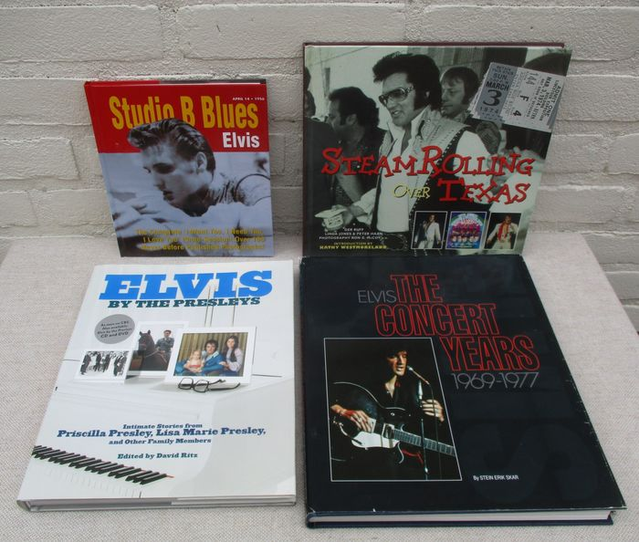 Elvis Presley - Studio B Blues, Steam rolling over Texas, Elvis by the Presleys and The concert Years 1969-1977 - Multiple titles - Book - 1997/2005