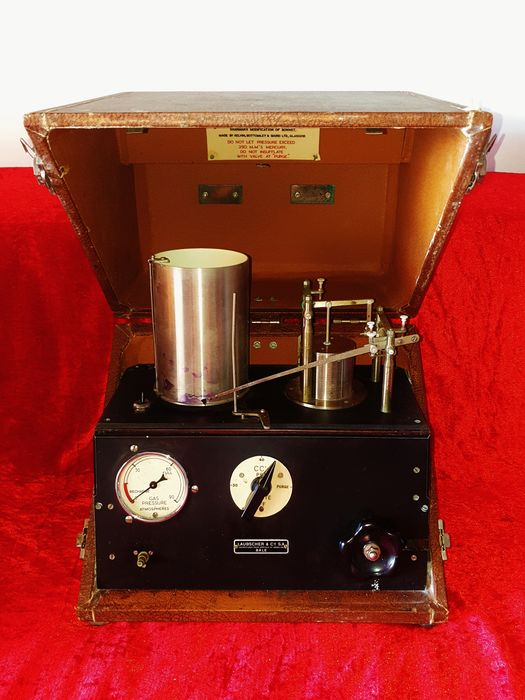 Old portable device for Kymographic Tubal Insufflation - LAUBSCHER & Cie - Switzerland - 1940 - RARE !!!!!!
