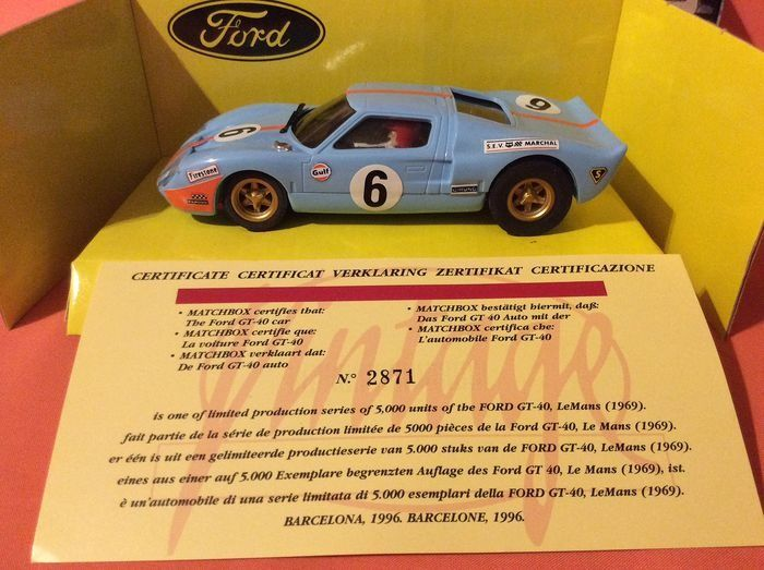 SCX - 1:32 - Ford GT 40 - Edition Limited 5000 stuks