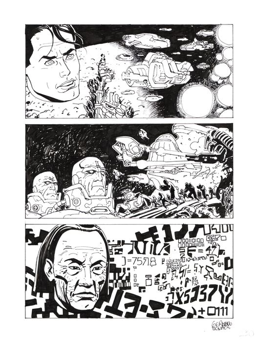 "Nathan Never Gigante n. 10 - Tavola Originale ""i ribelli di marte"" - Loose page - First edition - (1999)"