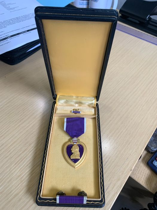 USA - Medal, United States of America - Elite Troops - Purple Heart WW2 purple with full box, ribbon and - 1940
