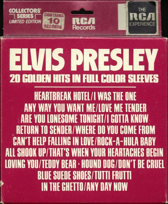 Elvis Presley - 20 Golden Hits Full Color Sleeves Box Set - Multiple titles - 10 singles box set - 1977/1977
