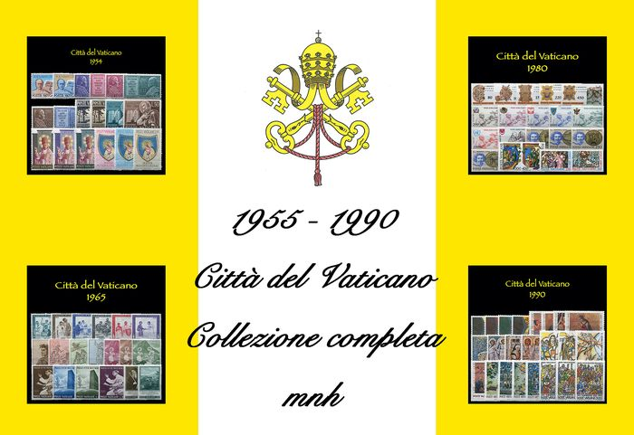 Vatican City 1955/1990 - Complete collection of 36 years of regular mail - Sassone PO dal N 192 al N 894