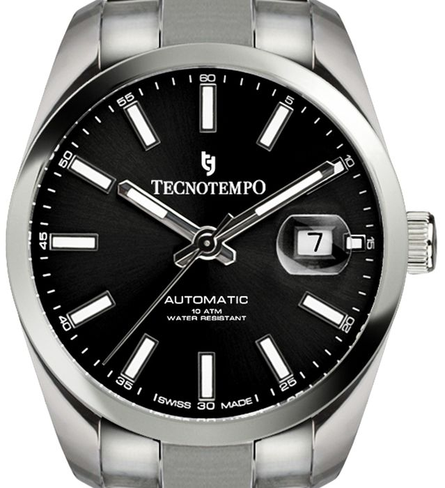 """Tecnotempo - Automatic 100M  - SWISS MADE -  LIMITED EDITION 500PCS - """"NO RESERVE PRICE"""" - TT.100.N (Black) - Men - 2020"""
