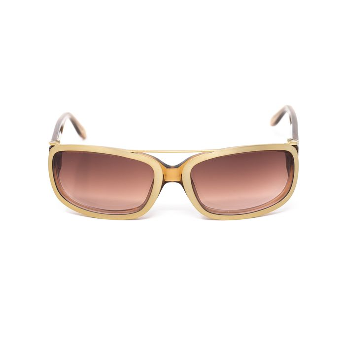 "Yohji Yamamoto - D-Frame Brown Gold Magnetised Metal Rim With Brown/Pink Graduated Lenses - 9YY800C3TOBACCO""NO Sunglasses"
