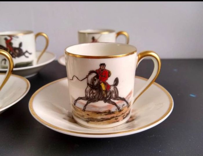 Raynaud Limoges - Coffee set for 6 (6) - Porcelain