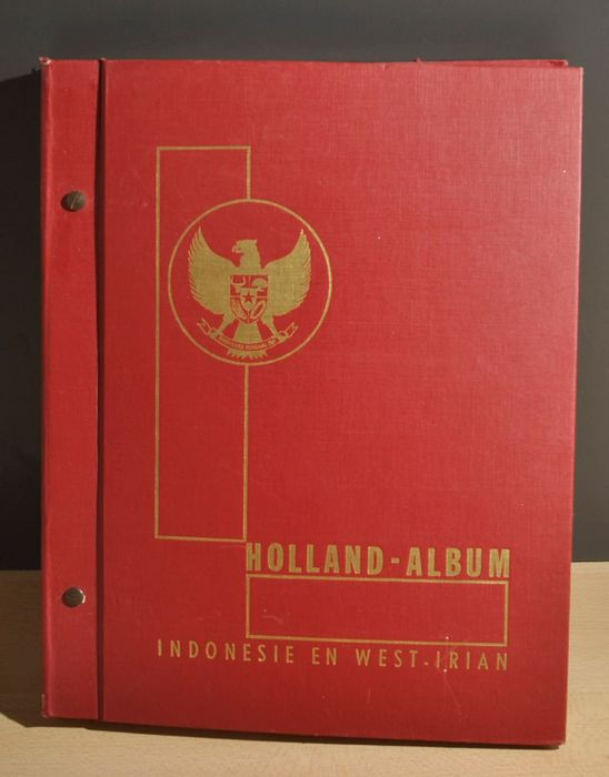 Indonesia 1950/1982 - Elaborate collection in a Holland album with all good series and blocks