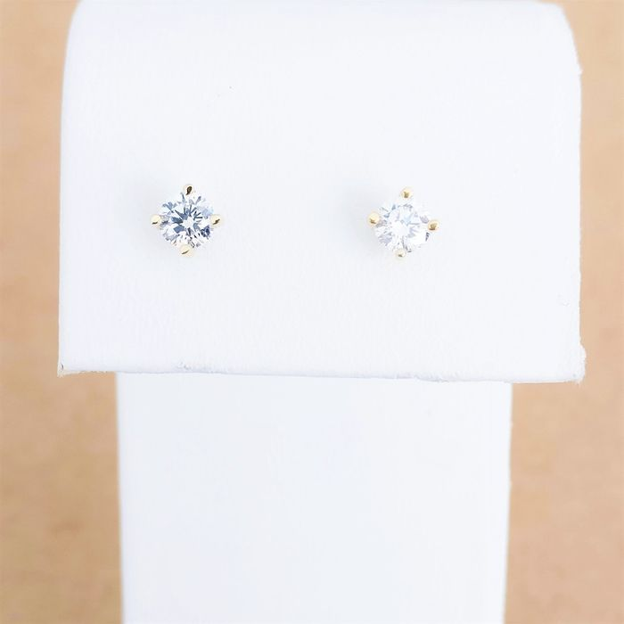 18 quilates Oro amarillo - Pendientes - Color tratado 0.46 ct Diamante