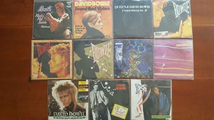 David Bowie - 11 singles - all different - Multiple titles - 45 rpm Single - 1974/1987