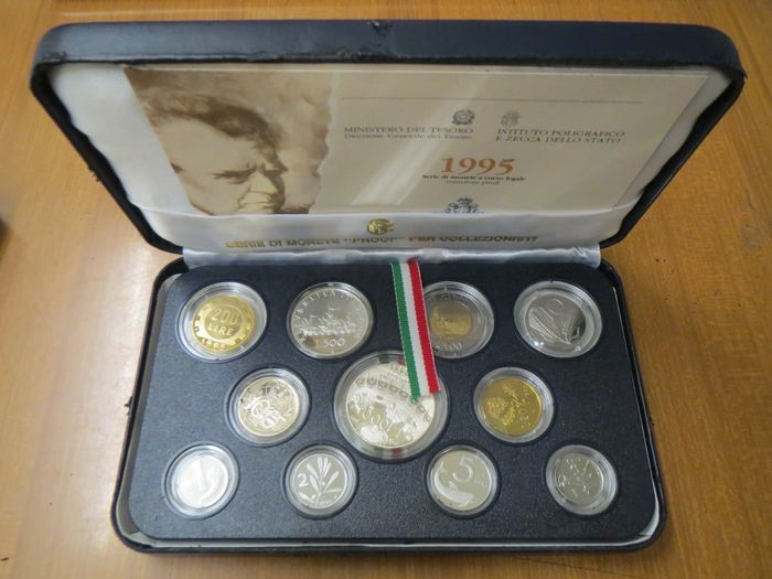 """Italy - Serie divisionale Proof 1995 """"Mascagni"""""""