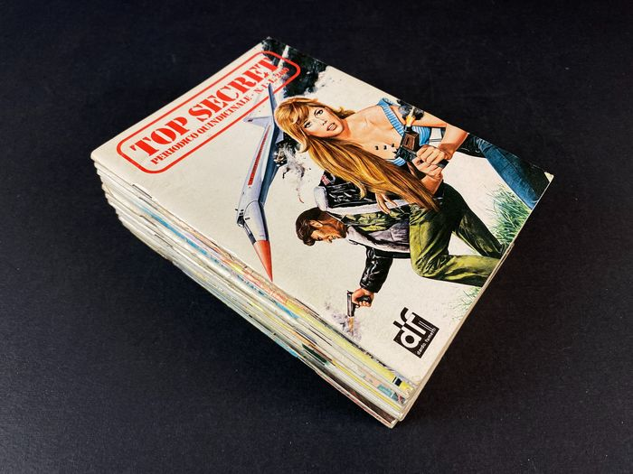Top Secret nn. 1/14 - serie completa - Stapled - First edition - (1975)